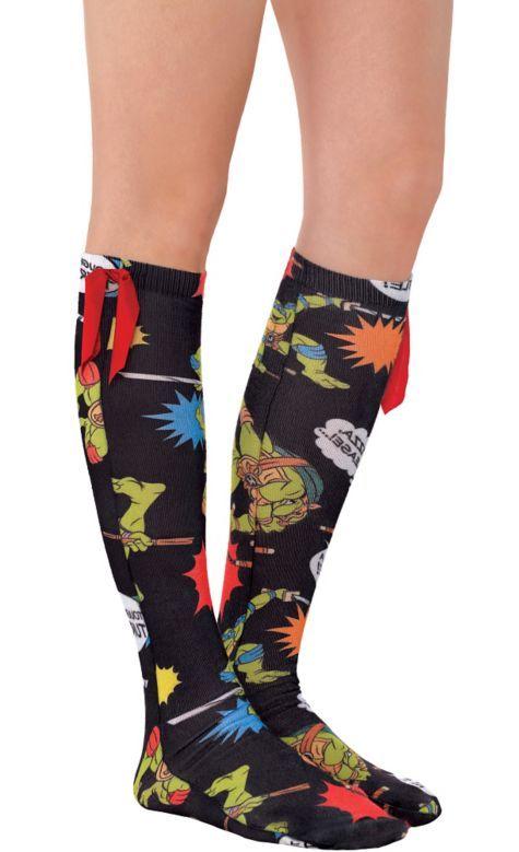 cc9659012 Teenage Mutant Ninja Turtles Knee-High Socks - Party City