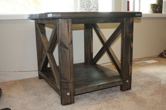 Rustic End Table by CascadeFurniture on Etsy
