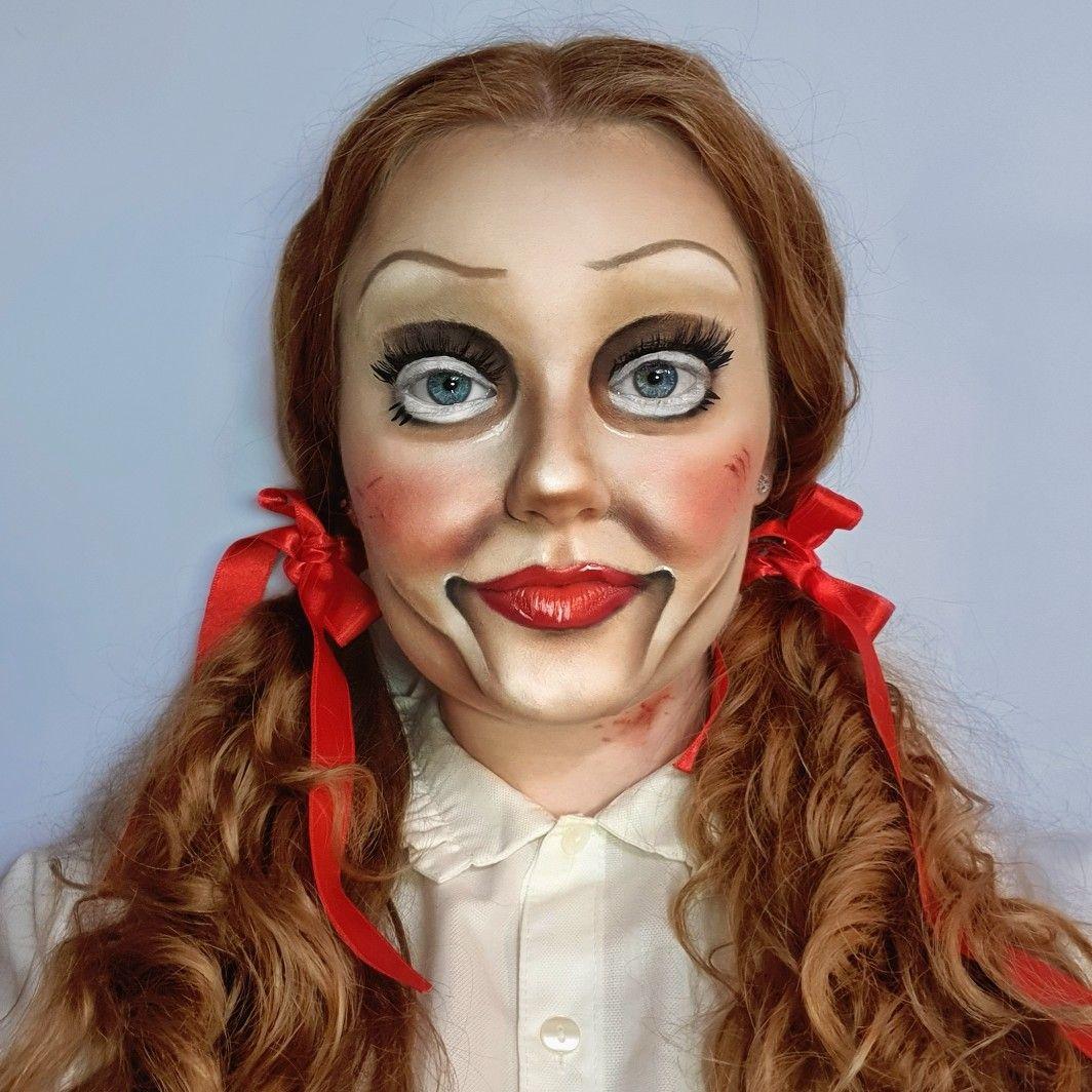 Annabelle Halloween Look By Vanja Landripet Doll Makeup Doll Makeup Halloween Halloween Makeup Looks