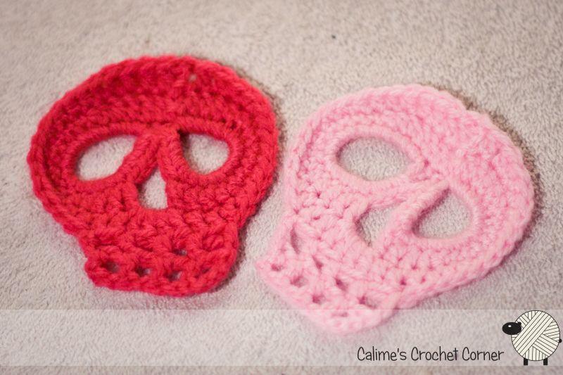 Crochet skulls | (calaveras) bufandas, manoplas, gorros,ets ...