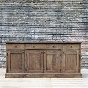 Between Kitchen And Dining Room With Large Mirror Over Milly Salvage Teak Sideboard From French Country Furniture Direct