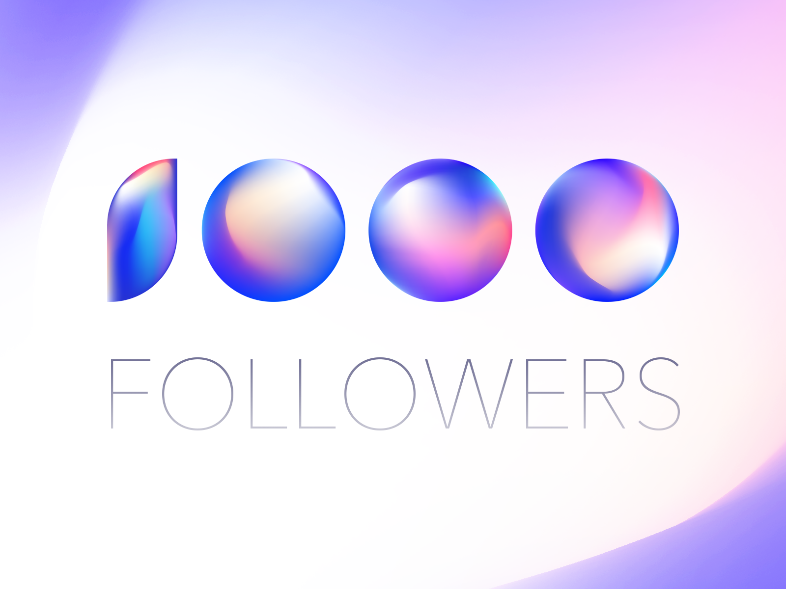 1000 Followers by Aleksandr Levchenko