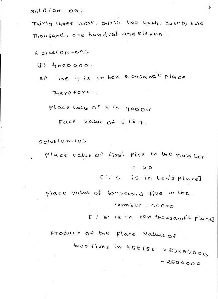 RD Sharma Solutions Class 6 Maths Chapter 1 Knowing Our Numbers Exercise  1.1 Class 6 Maths, Math, Solutions