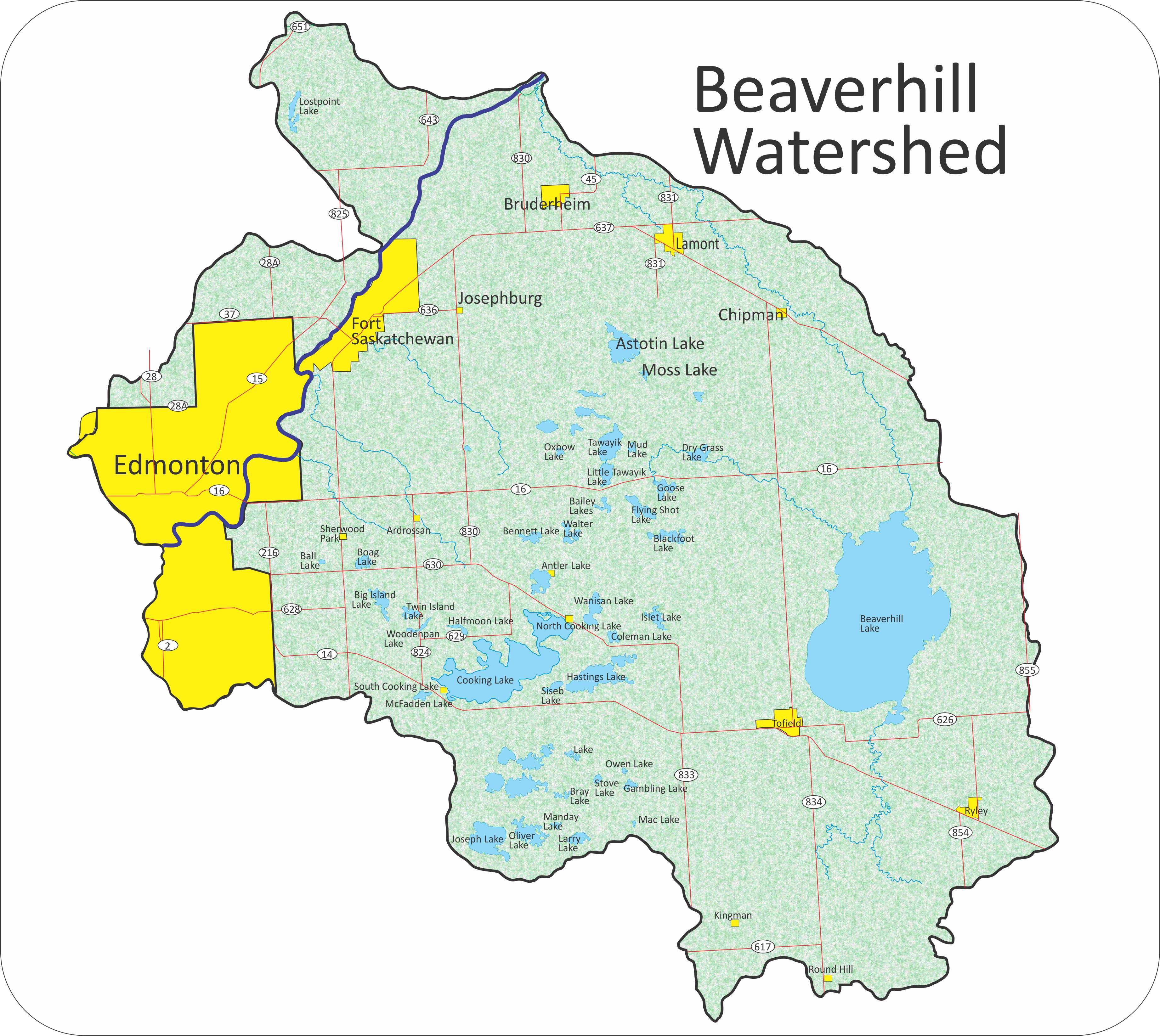 Political maps that show of the saskatchewan river canada usa political maps beaverhill watershed one of 4 sub watersheds in the greater on political maps that show of the saskatchewan river sciox Images