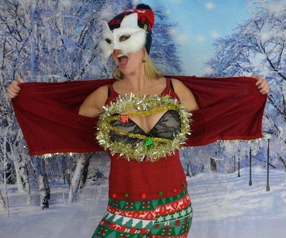 Medium Ugly Christmas Sweater Women Sexy Christmas Sweater