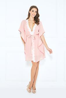 Thalia Short Dress Set Short Satin Dress Kimono Fashion Set Dress