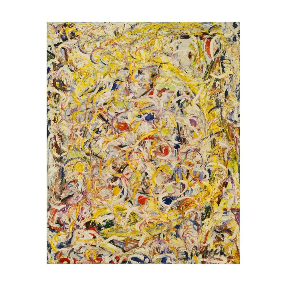 Now selling: Jackson Pollock Shimmering Substance Painting on Canvas ...