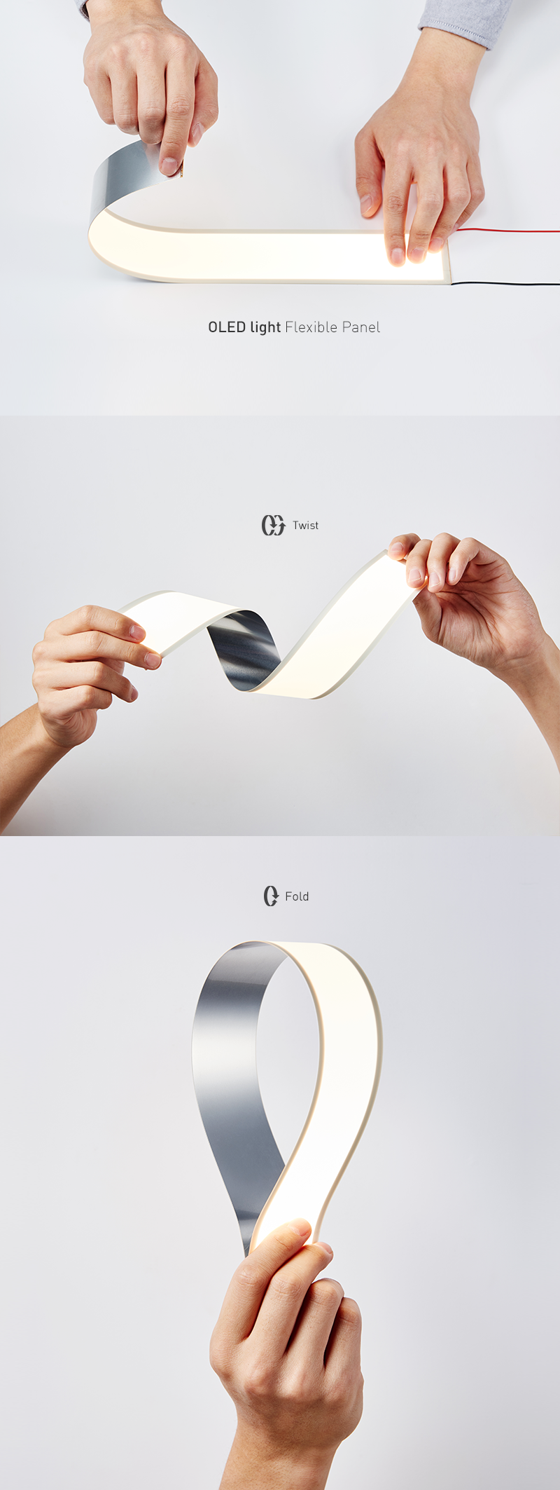 This Is The Newly Launched Flexible OLED Panel. The Long Rectangular Shape  Makes It Possible To Be Utilized In Even More Diverse Places.