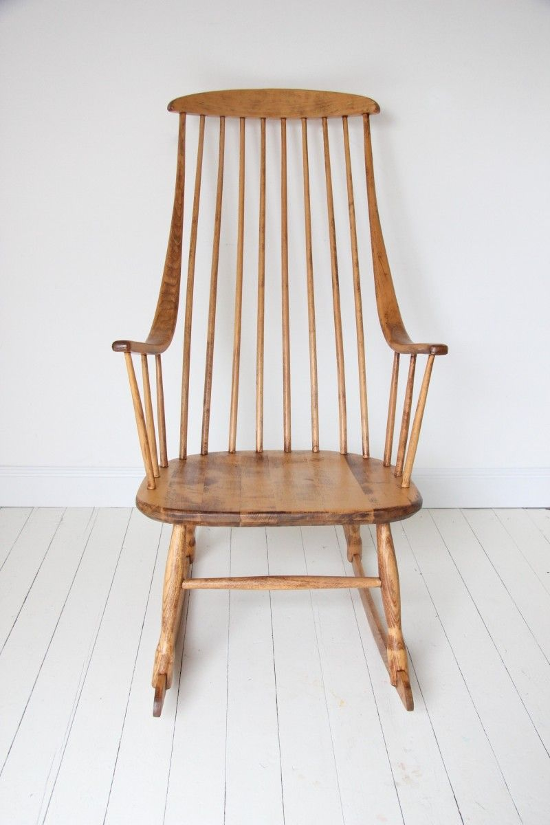 Vintage Rocking Chair By Lena Larsson For Nesto 4