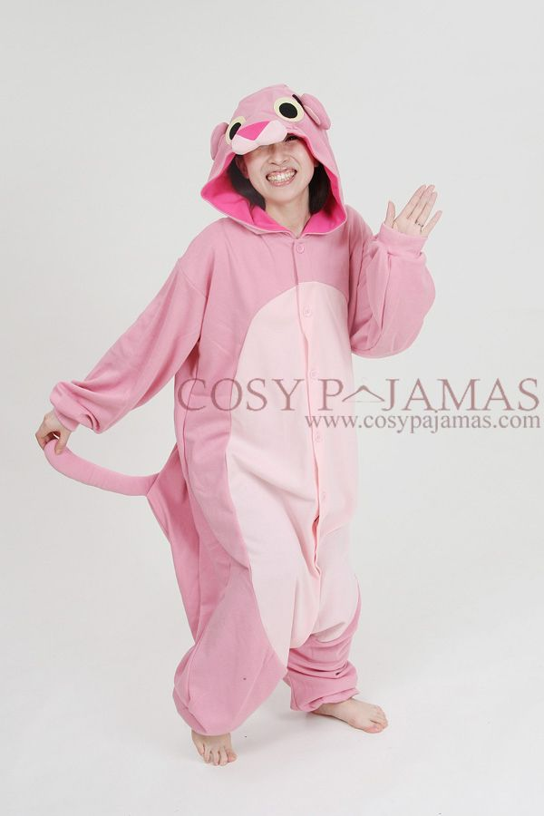 d88fbbb069 Animal onesies pink panther onesie kigurumi pajamas