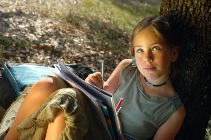 Image result for nature journal writing girl