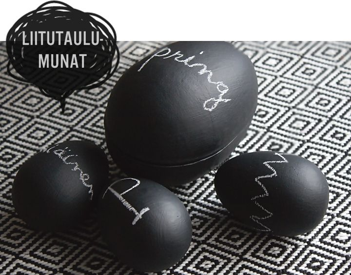 DIY chalkboard painted eggs