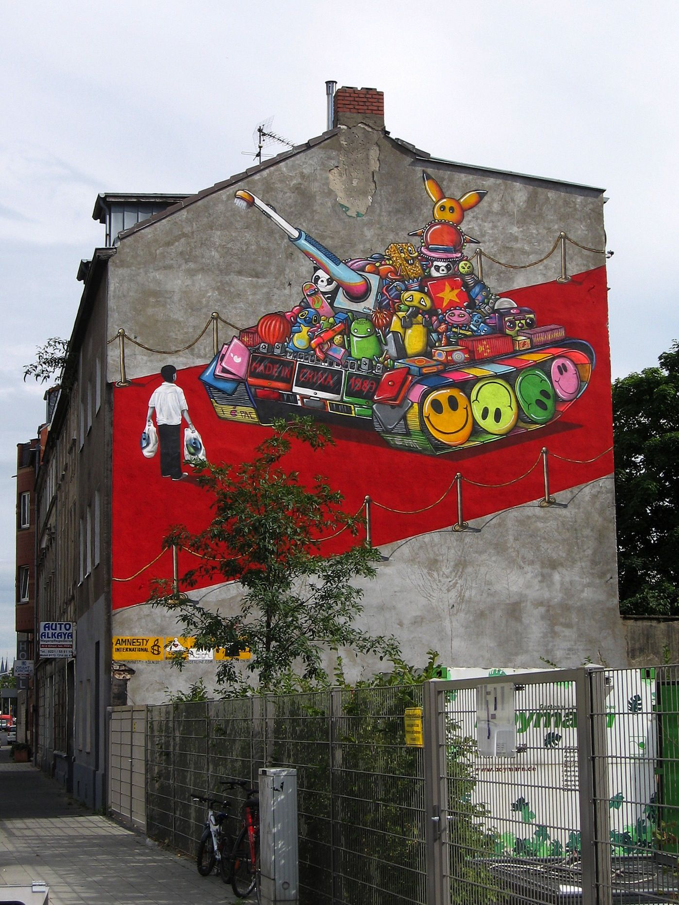 By A Signl From The Captain Borderline Crew In Cologne Germany In Collaboration With Amnesty International Street Art Street Mural Street Art Utopia