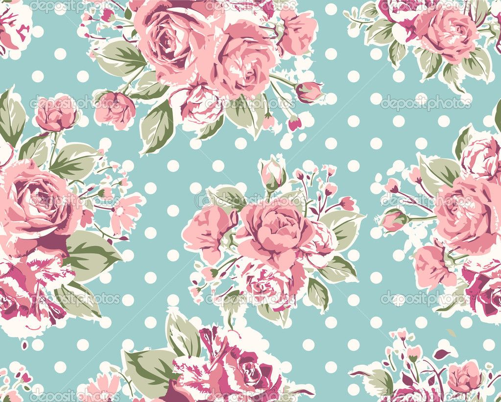 Classy Pink And Blue Floral Wallpaper Top Small Home Decor ...