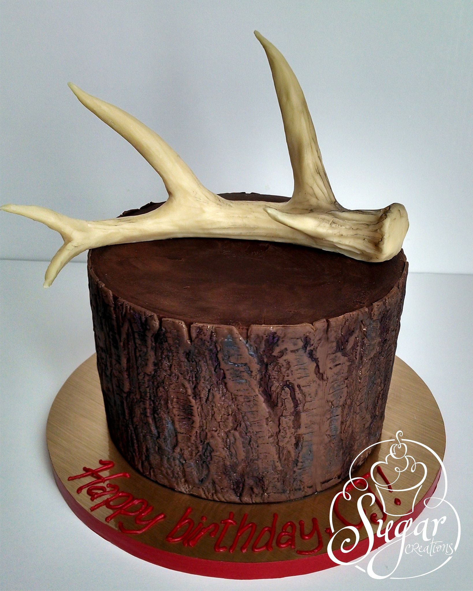 Deer Antler Birthday Cake In