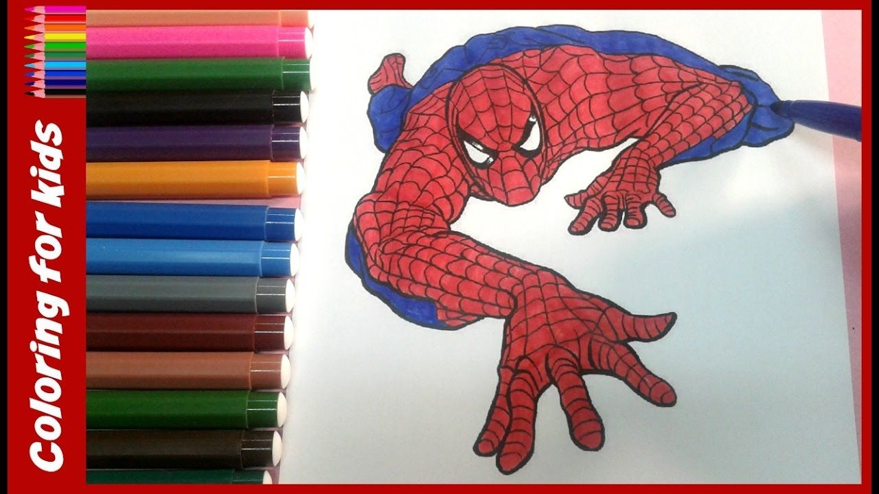 Colouring Pages For Kids How To Colour Spiderman Colouring Pages Coloring Pages Shosh Channel Spiderman Coloring Coloring Pages Coloring Pages For Kids