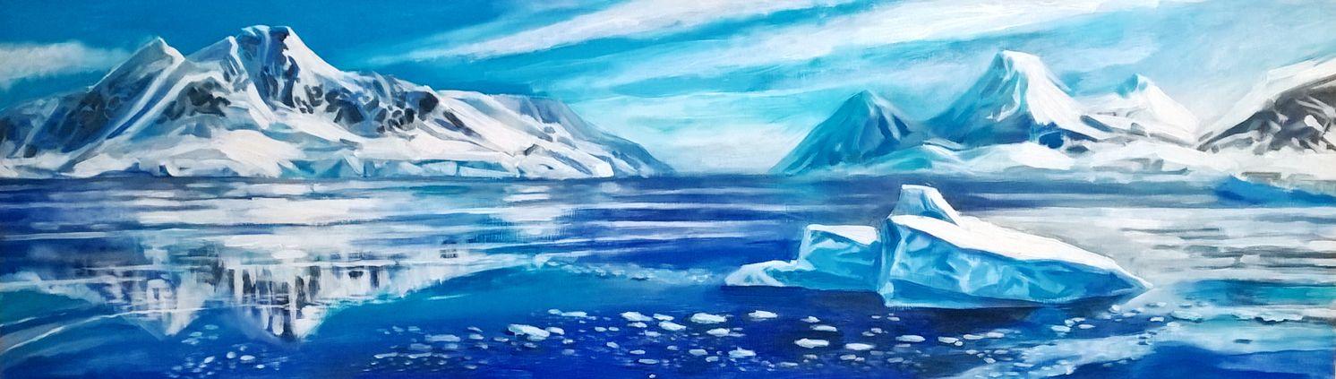 Antartida Artistas Antartida Pintura Y Dibujo