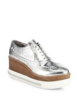buy cheap high quality sale big sale Miu Miu Leather Platform Sneakers clearance collections rZMbiul