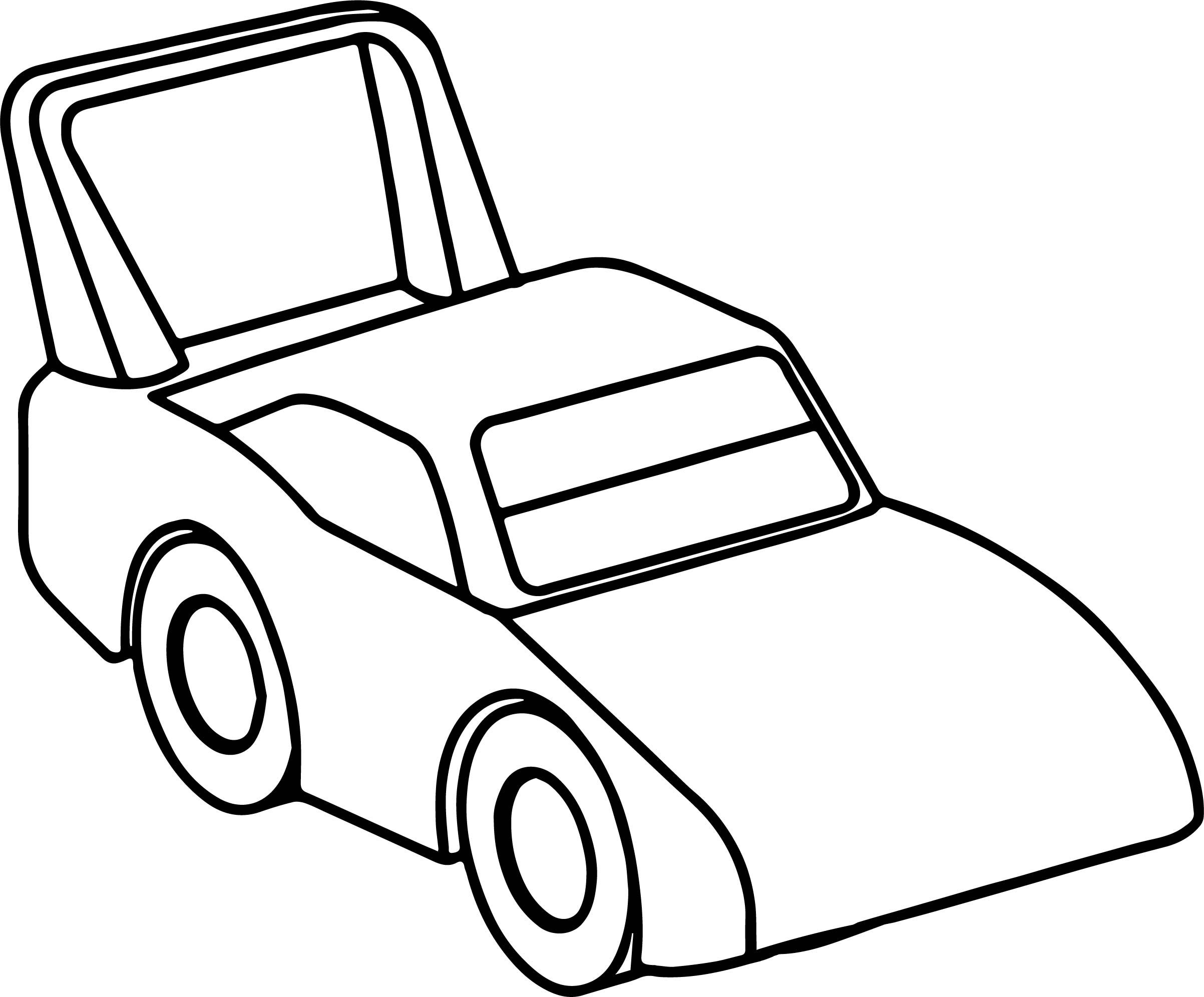 Nice Race Toy Car Coloring Page