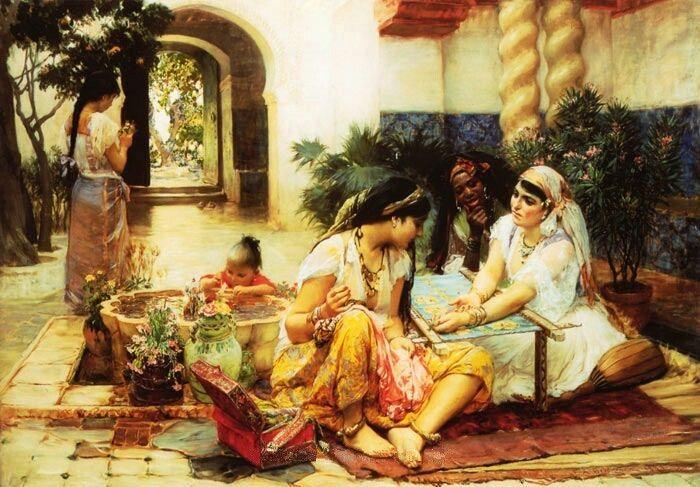La peinture orientaliste forum algerie orientalisme - Peinture satinee algerie ...