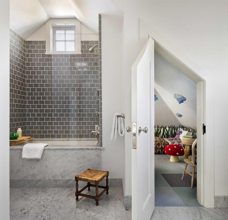 Tiny Hideout Space In Kids Bathroom Beach Style Bathroom By Ike Kligerman Barkley Small Bathtub Classic Bathroom Bathroom Styling