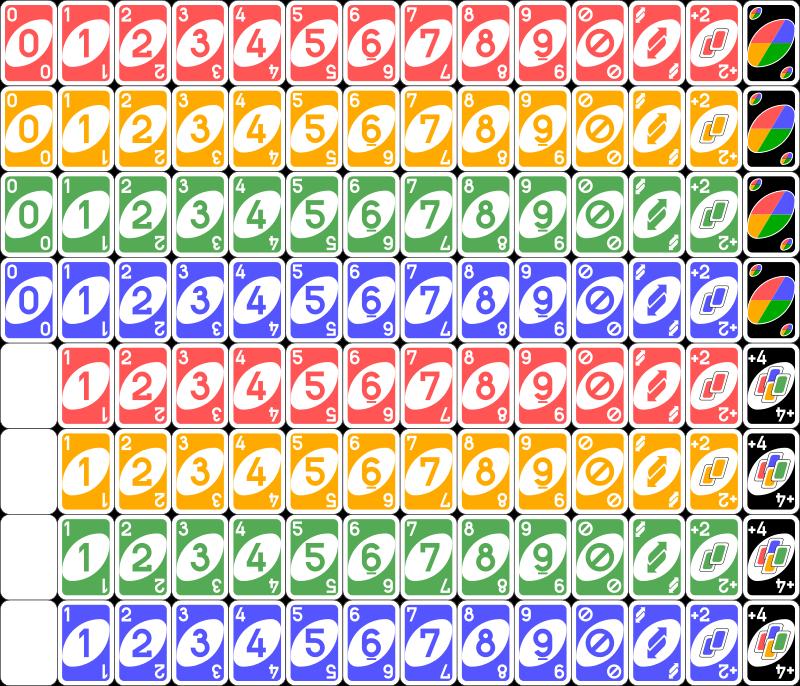Uno Karten Deck Uno Kartenspiel Wikipedia Die Freie Enzyklopadie Uno Cards Uno Card Game Printable Cards