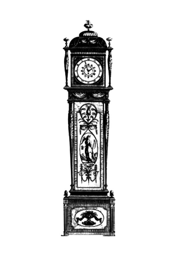Beautiful Ornamentation Grandfather Clock Coloring Pages Color Luna Grandfather Clock Clock Drawings Grandfather Clock Tattoo