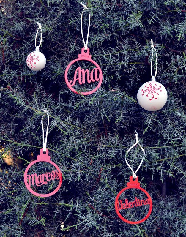 27c64d492c456 Adorno Navidad Personalizado con el nombre