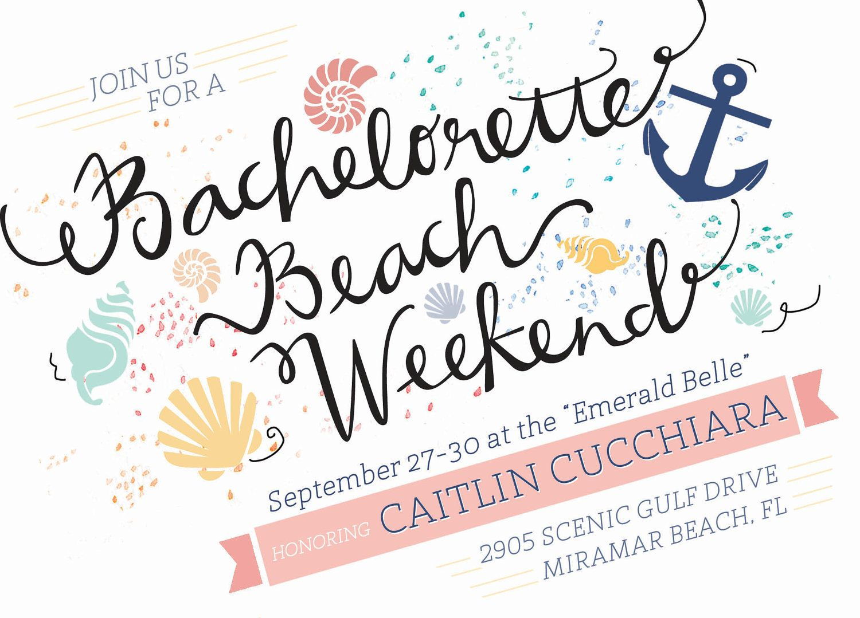Bachelorette Beach Invitations. $2.50, via Etsy. | Pretty Papers ...