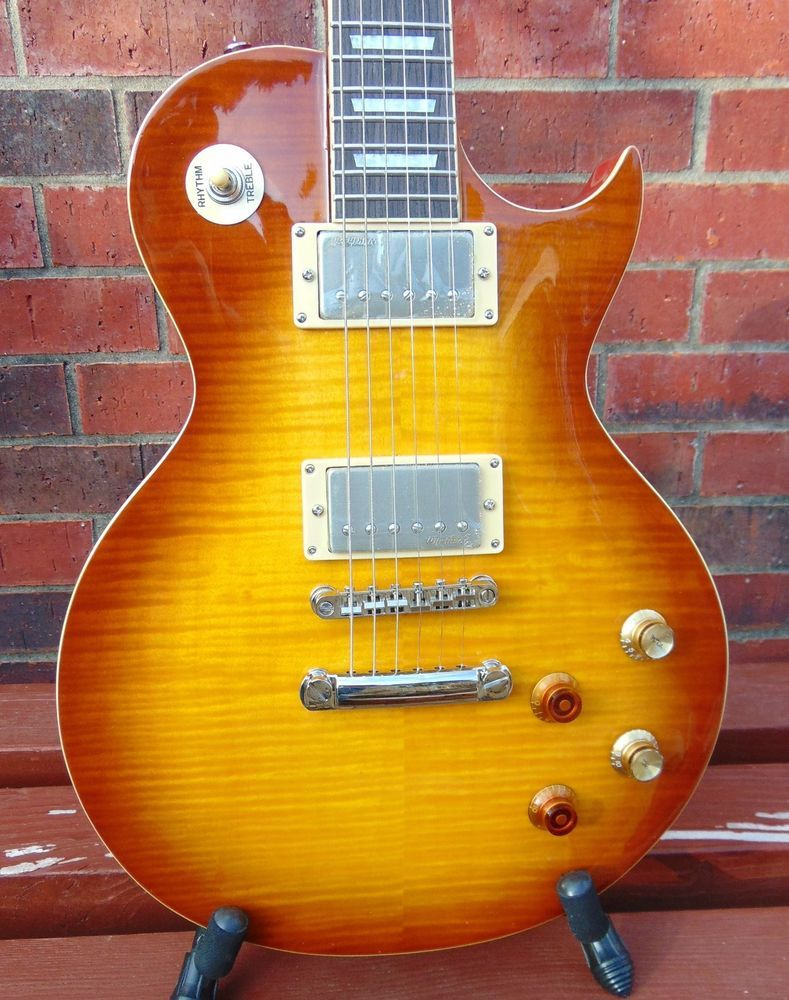 New Vintage V100pgm Original Lemon Drop Peter Green Gary Moore Lp Guitar Gitarre