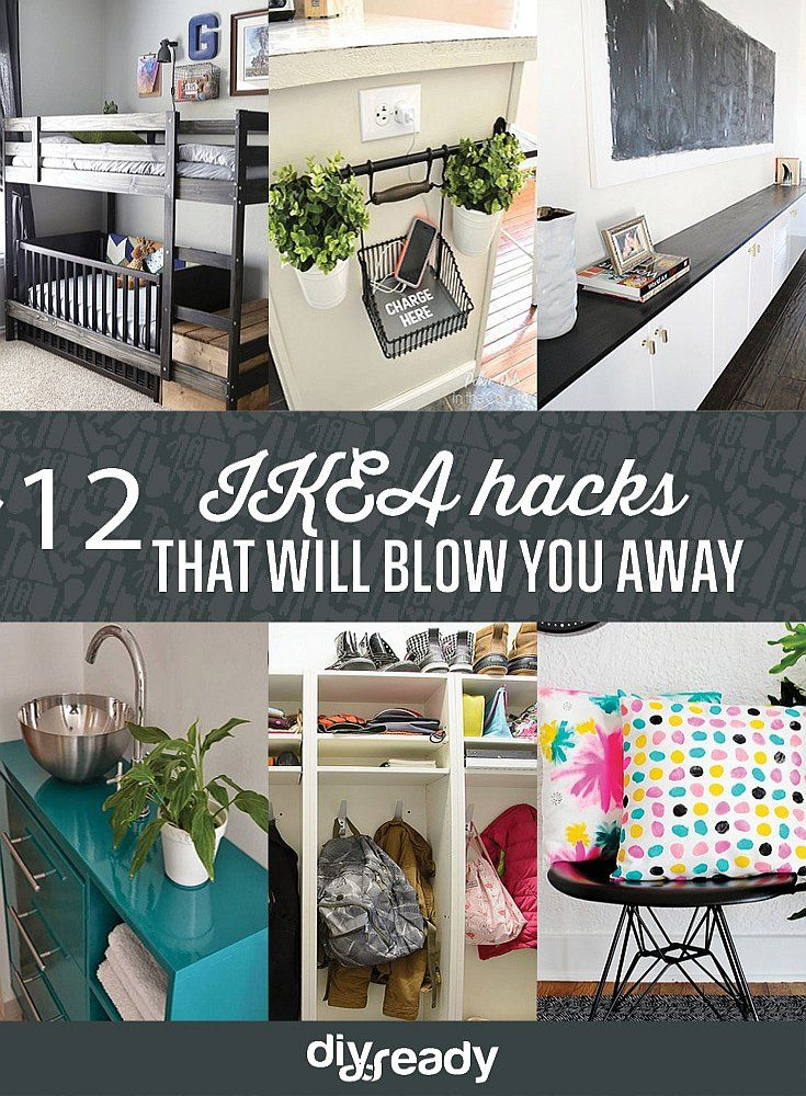 Turn IKEA products into something else with these IKEA hacks by DIY Ready at http://diyready.com/12-ikea-hacks-that-will-blow-you-away