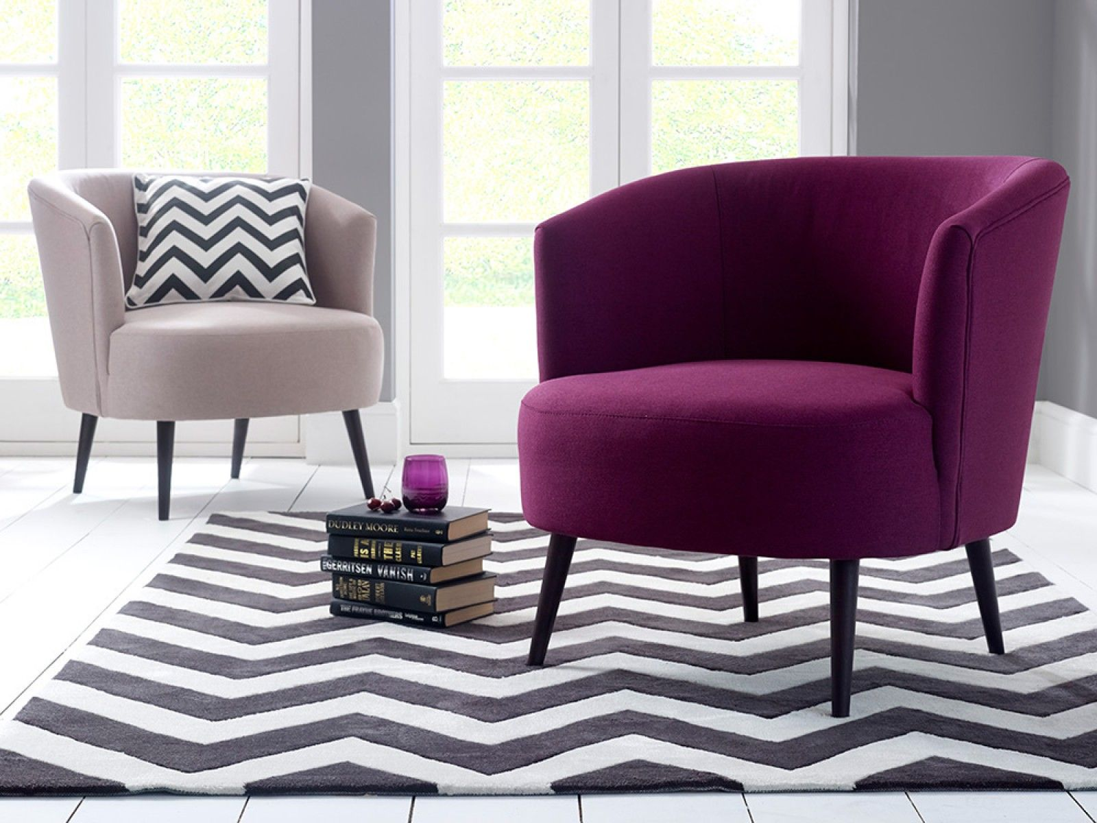 Accent Stuhl Schlafzimmer  Purple accent chair living room