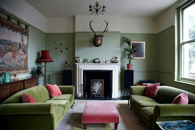 Pistachio Green Pink Living Room Living Room Color Sage Living Room