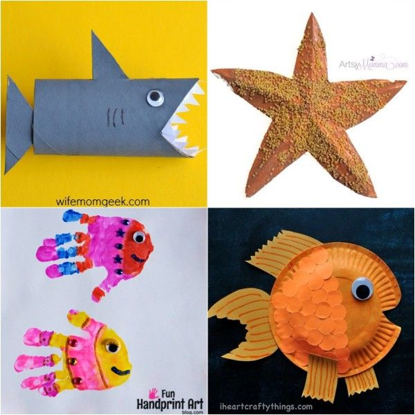 Fish Craft Ideas For Kids Part - 20: 20 Fun Ocean Crafts For Kids Of All Ages