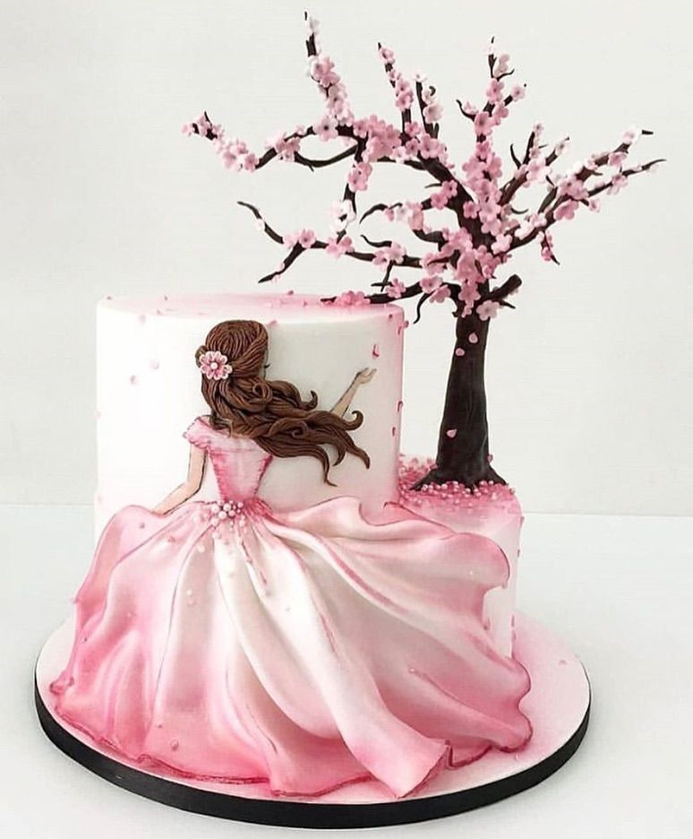 "Lynda Correa on Instagram: ""Beautiful whimsical cake design! Via @receitasdecake credit: unknown #eventplanner #cakedecorating #cakes #cakeart #partydecorations…"""