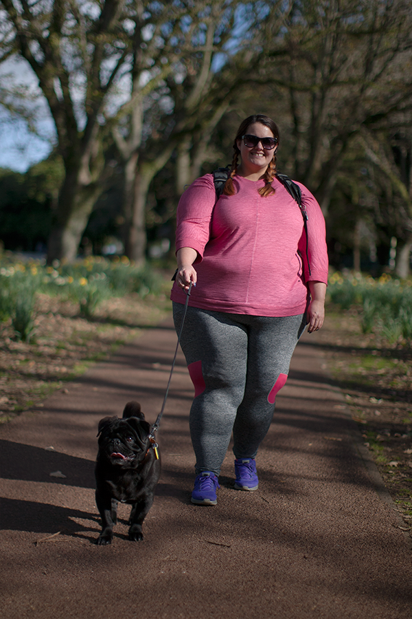 6a0fea0e799 This is Meagan Kerr x Farmers plus size activewear and Floyd the pug ...