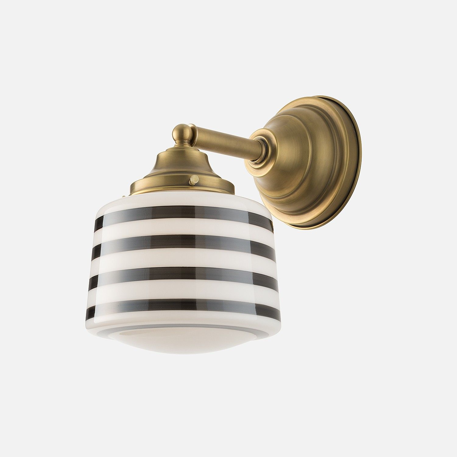 Drum Shade  Gray Bands  Unique Architecture Schoolhouse New Light Fixtures Bathroom Inspiration