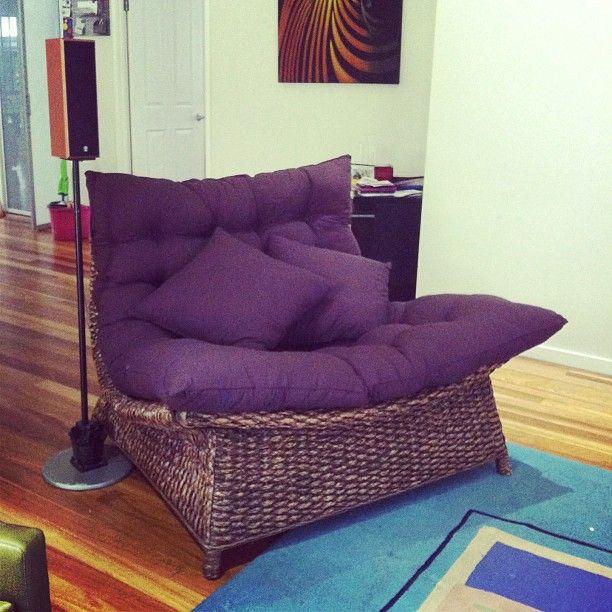 New chair! #yay #new #chair #socomfy #huge #wicker... | Wicker Blog  wickerparadise.com