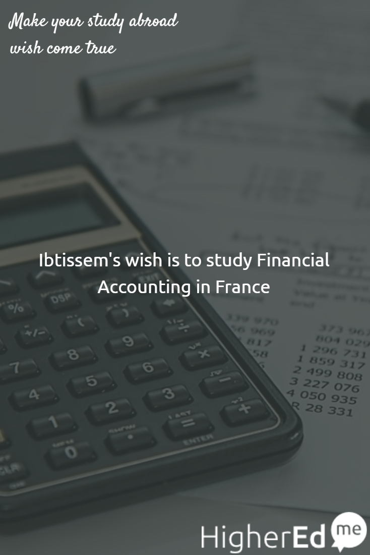 Ibtissem has shared her wish to #studyabroad #FinancialAccounting in #France with her friends  Like if you want to study Financial Accounting too :) #studentsofHigherEdMe #Dream #SuccessfulStudents #Wish  Make your study abroad wish too! http://buff.ly/2dDzo6U