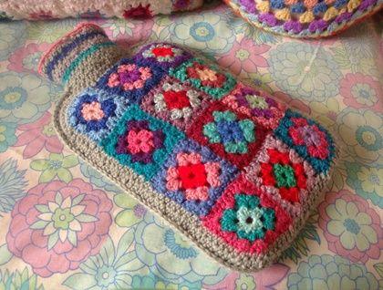 Crochet. Cubre bolsa de agua caliente   bolsas calientes   Pinterest ...