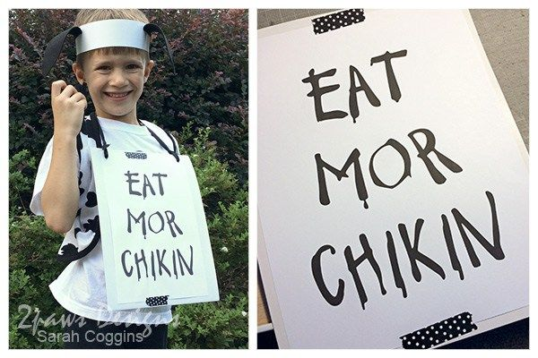 photo regarding Eat More Chicken Sign Printable identified as Very simple Cow Appreciation Working day Gown + Printable Higher education