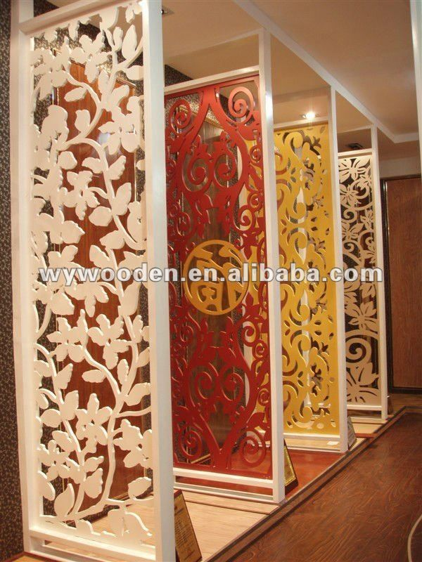 Japanese Design Wood Carved Screens Cnc Cuted Mdf