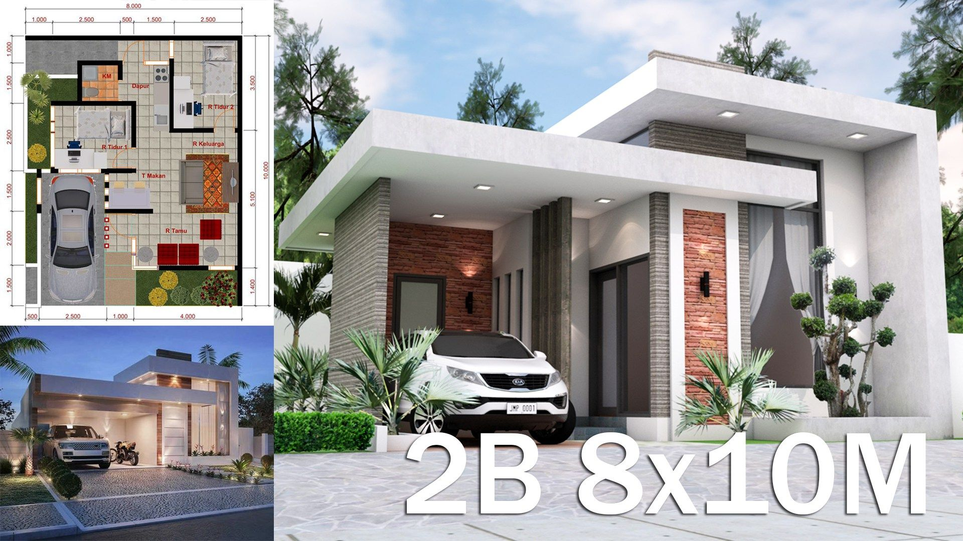 Sketchup House Modeling Idea From Photo 8x10m Rumah Indah