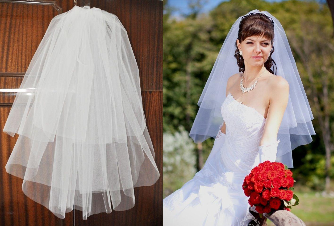 Фата для пышного платья в картинках