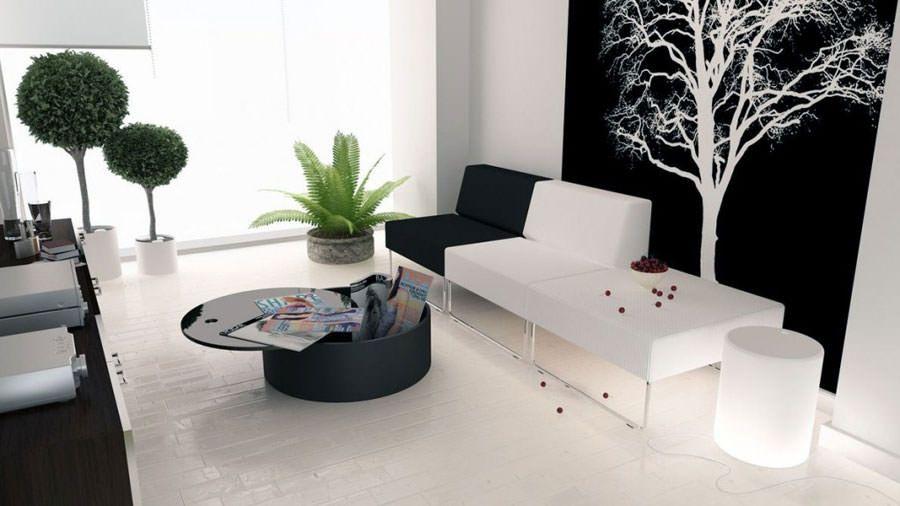 Accessori soggiorno ~ Idee per arredare il soggiorno in bianco e nero n arredare