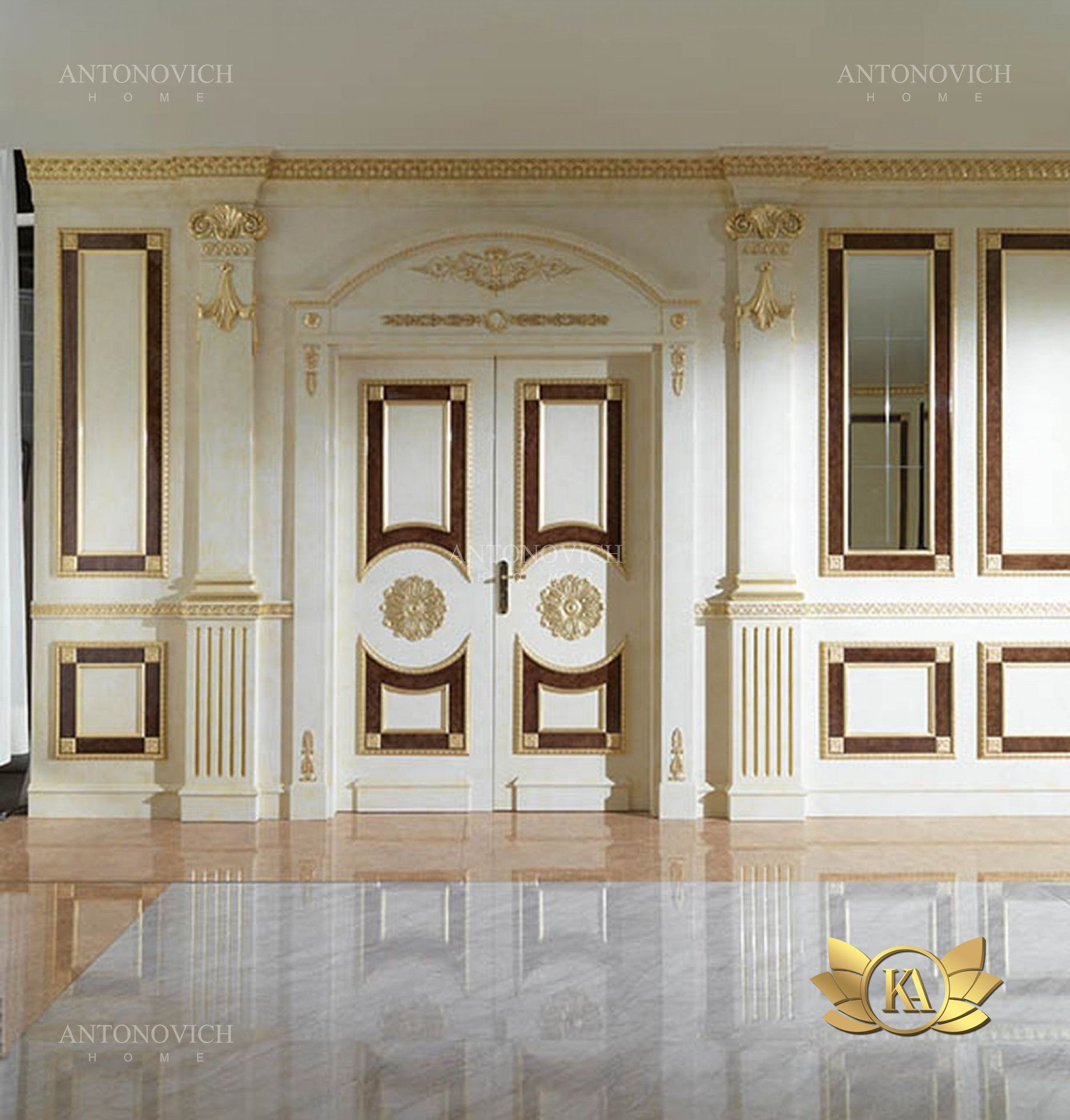 Exclusive Wooden Door Models From Luxury Antonovich Home Are Flawless In Everything They Are Made Main Entrance Door Design Entrance Door Design Classic Doors