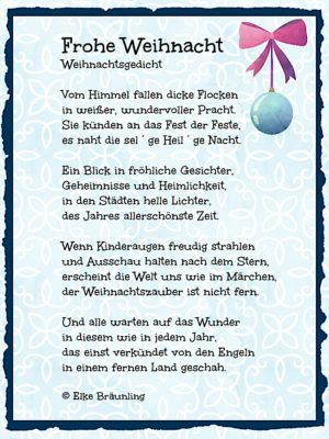 frohe weihnacht kindergedichte weihnachten gedicht. Black Bedroom Furniture Sets. Home Design Ideas
