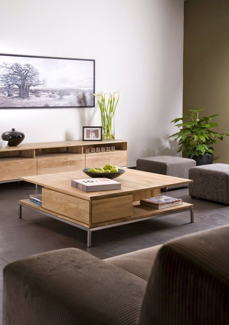 Functional Ideas For Modern Wood Coffee Table With Elegant Designs Wood Coffee Table Design Coffee Table Living Room Modern Coffee Table Decor Living Room [ 1063 x 750 Pixel ]