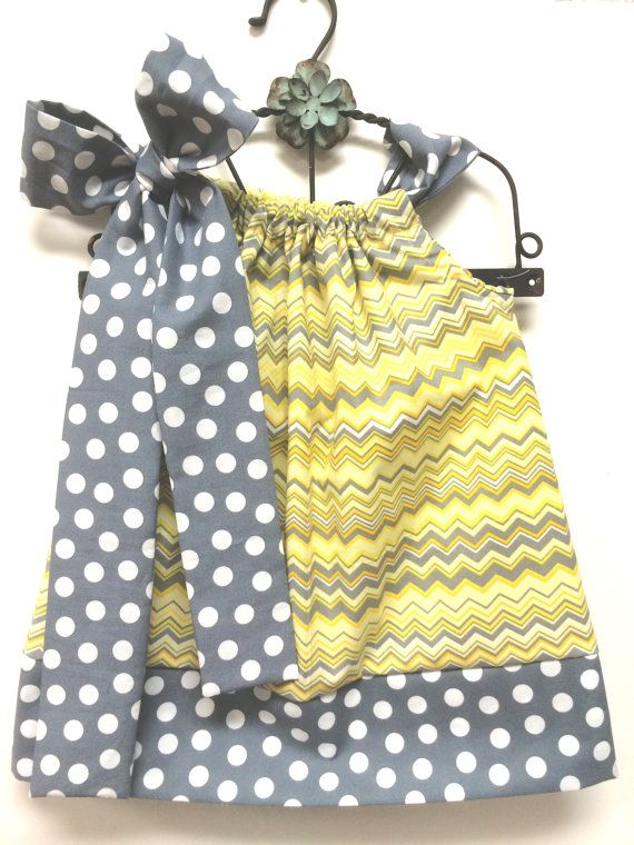Yellow and Gray Chevron With Gray with Gray and White by babyboos