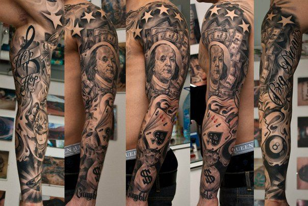 Casino tattoo sleeves 14